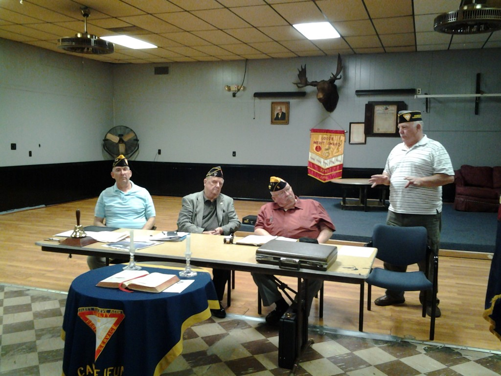 East Coast Regional President Jim Campbell addressing the Branch at monthly meeting in March 2014