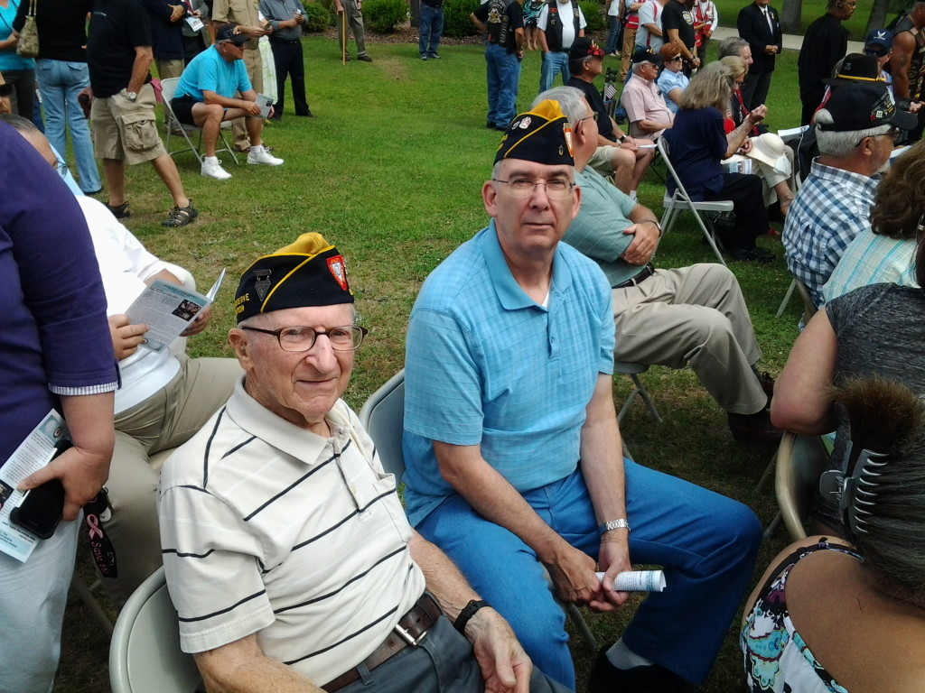 S/M's Baum and Rogers at the Vietnam Veterans Memorial Rededication Ceremony on 31 May 2014