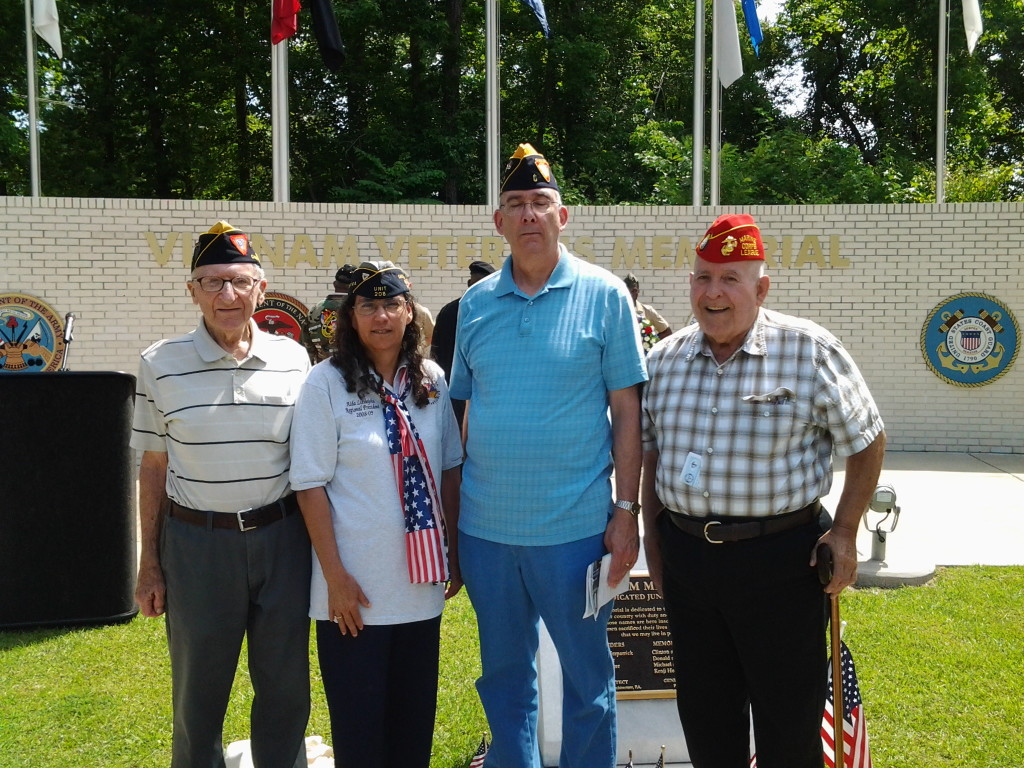 S/M Baum, Aida Littlejohn, S/M's Rogers and Broussard at Vietnam Veterans Memorial Rededication Ceremony on 31 May 2014