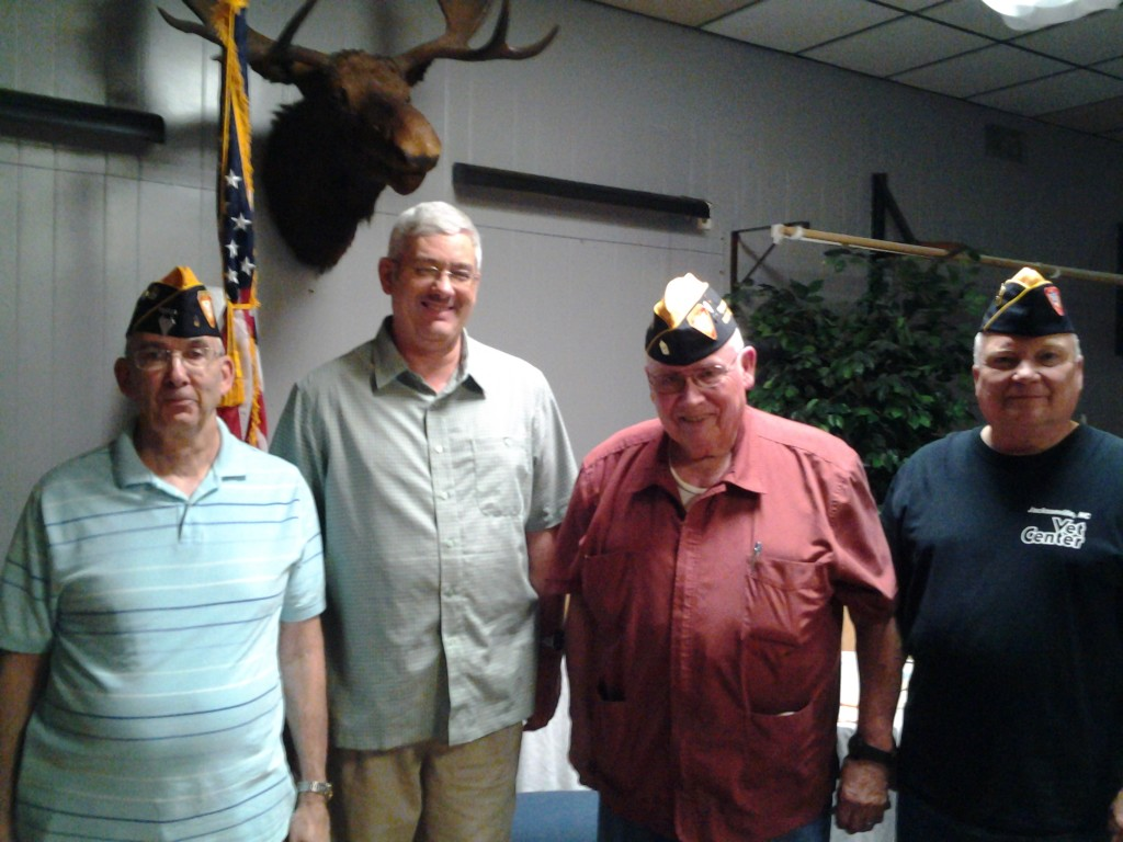 S/M'S ROGERS, MIETHKER (NEW MEMBER), BOGGS AND SIVERSON AT THE BRANCH MEETING ON 14 APRIL 2015