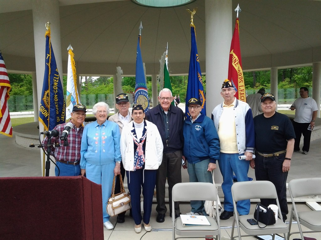 S/M'S GEORGE POTTER, IRMA POTTER (UNIT 208), GEORGE BARROWS, AIDA LITTLEJOHN (UNIT 208), GEORGE CLEVELAND, BOB BAUM, MARK ROGERS AND PAUL SIVERSON AT THE 50TH ANNIVERSARY OF THE VIETNAM WAR RECOGNITION CEREMONY ON 25 APRIL 2015