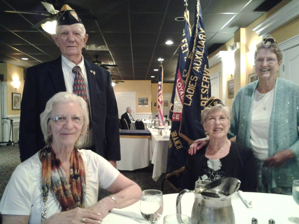 BERTHA ERICKSON WITH HER HUSBAND CURTIS, BRENDA GOOD AND ROSSIE RITTER AT THE JOINT INSTALLATION ON 9 JUNE 2015