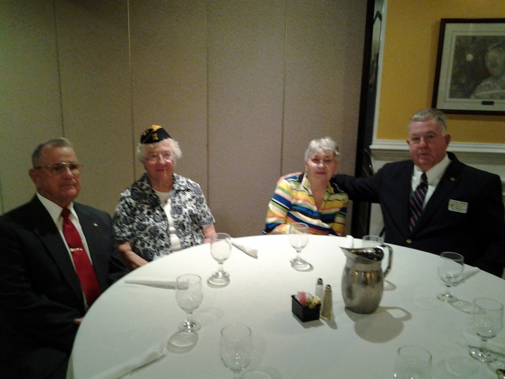 Shipmate George Potter and his wife Irma (Unit 208), Josephine Danziger with Shipmate Earl Harper at the Installation Ceremony on 9 June 2015
