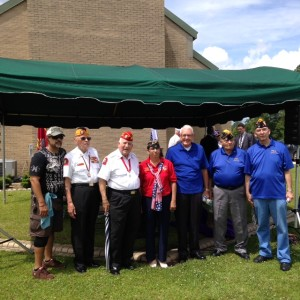 S/M'S ALERS, BARROWS, BROUSSARD, AIDA LITTLEJOHN (UNIT 208), CLEVELAND, MELVIN AND ROGERS AT THE MEMORIAL DAY CEREMONY AT THE VETERANS CEMETERY IN JACKSONVILLE ON 30 MAY 2016